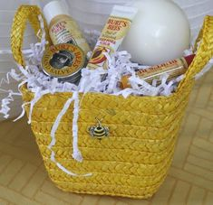 Game prizes for a bee-themed baby shower