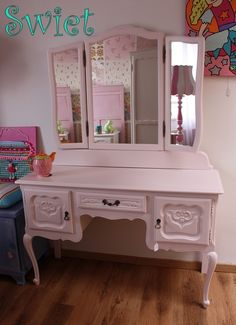 Charming Shabby Chique Furniture Restyled In Warm White.