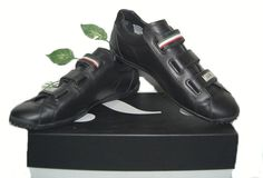 Moschino Black Mens Italian Leather Logo Sneakers Shoes Size US 9 EU 42 NEW #Moschino #AthleticSneakers