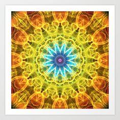 Mandala - Flower Bouquet Art Print by Zandiepants - $15.00