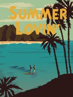 Summer Loving - American Flat | Crie seu quadro com essa imagem https://www.onthewall.com.br/poster/summer-loving #quadro #canvas #moldura