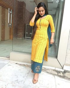 Image may contain: 1 person, standing Salwar Dress, Punjabi Dress, Punjabi Suits, Punjabi Girls, Kurti Designs Party Wear, Salwar Designs, Indian Designer Outfits, Indian Outfits, Indian Dresses For Women