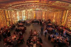 For a corporate event at the Temple House, the projection changed for each course of the meal, cycling...