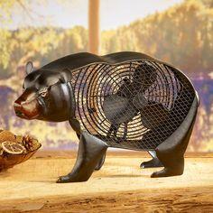 DecoBreeze Black Bear Figurine Fan - DBF1937 - Portable Fans