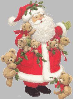 Père-Noël avec des ours 11