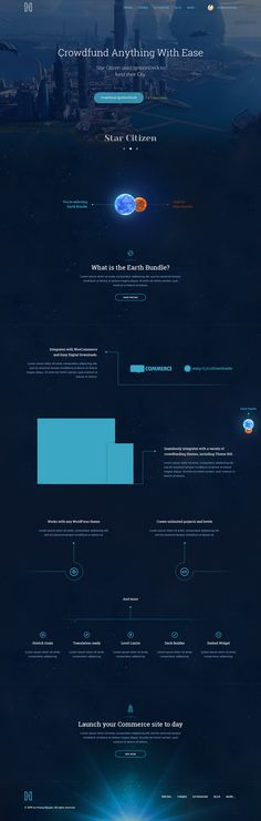 Commerce System Landing Page Space Version #webdesign