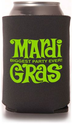 Customizable Holiday & Festival/Picnic Can Coolers #koozies #holiday #festival #picnic #mardigras