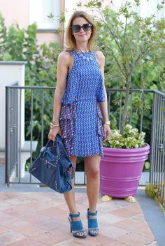 Pink silk dress, Cesare Paciotti shoes