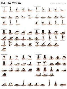 What is Hatha Yoga? We define Hatha Yoga and suggest 2 yoga videos that dynamically demonstrate Hatha Yoga poses plus a traditional Indian yoga class. Ashtanga Yoga, Vinyasa Yoga, Hatha Yoga Poses, Yoga Bewegungen, Yoga Pilates, Cool Yoga Poses, Yoga Sequences, Yoga Flow, Iyengar Yoga