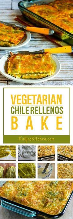 Low-Carb Vegetarian Chile Rellenos Bake [found on KalynsKitchen.com]