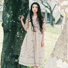 DEAR Li Sen female wind fresh national wind original hand-painted flower print…