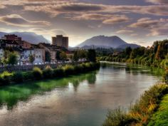 A view from the Lake Drau Bridge on Kaernter Strasse (Villach, Austria). I was blessed with being able to see this twice a day; on the way to and back from school. Austria, New York Washington, Carinthia, Lets Run Away, Central Europe, Future Travel, Nature Pictures, Places Ive Been, Travel Photography