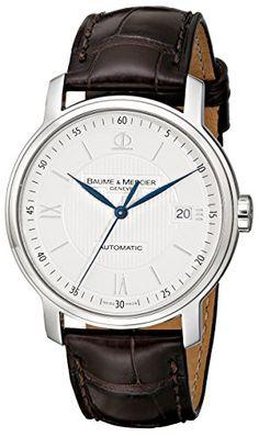 Baume & Mercier Men's 8791 Classima Automatic Leather Strap Watch Baume & Mercier http://smile.amazon.com/dp/B00221Q42S/ref=cm_sw_r_pi_dp_dGPAub038X9G5