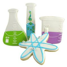 Back to School - Science Lab Cookies for the chemistry geek!    http://www.fancyflours.com/product/Cookie-Cutter-Science-Lab-Set-of-4/back-to-school-party-theme