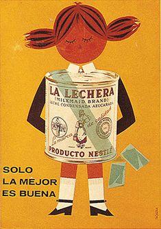 Cartel La Lechera años 60 – Anuncios vintage Nestlé