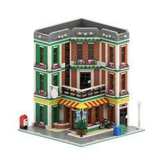 Minecraft City, Lego City, Legos, Lego Super Mario, Christmas Village Houses, Lego Modular, Lego Group, Lego Projects, Lego Moc