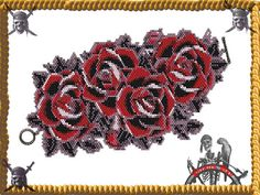 Bed Of Roses Cuff/Bracelet  Miyuki Delica PDF by PiratesOfTheBeads, $6.00