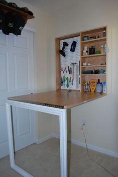 Fold Down Desk Large