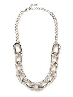 Pavé Links Necklace Necklace | BaubleBar #jewelry
