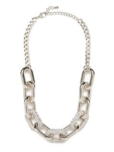 Pavé Links Necklace Necklace | BaubleBar #jewelry