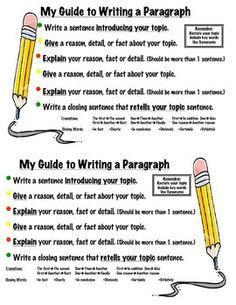 how to write a paragraph for kids