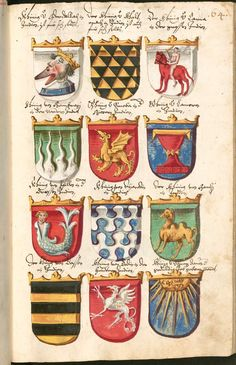 Grünenberg, Konrad: Wappenbuch - BSB Cgm 9210, [S.l.] Bayern, 1602 - 1604 http://daten.digitale-sammlungen.de/bsb00034952/image_139