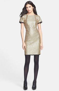 @Marie McLean perfect and sparkly! Wear to GCom event too! Ted Baker London 'Tabie' Sequin Sheath Dress available at #Nordstrom