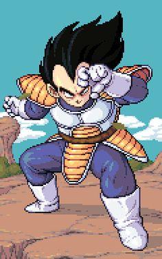 Vegeta in pixel art Dragon Ball Z, Dragon Ball Image, Anime Pixel Art, Anime Art, Vegeta And Bulma, Super Vegeta, Native American Humor, Dbz Manga, Arte Nerd
