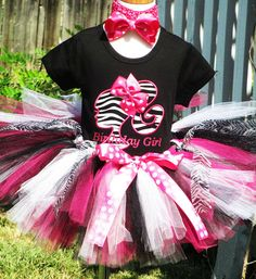 Zebra Barbie Birthday Tutu Outfit by TutuBellaCoutureLtd on Etsy, $54.95