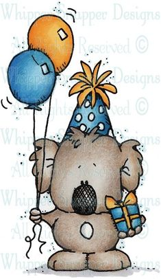 Party Koala - Birthday Images - Birthday - Rubber Stamps