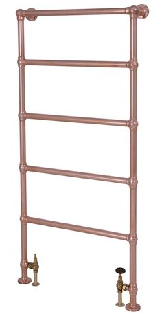 Winthorpe Traditional Towel Rail - Copper periodhousestore.co.uk