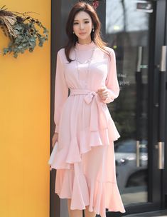 Korean Women`s Fashion Shopping Mall, Styleonme. Casual Dresses For Women, Nice Dresses, Skirt Fashion, Fashion Outfits, Women's Fashion, Street Fashion, Mode Hijab, Cute Asian Girls, Sweet Dress