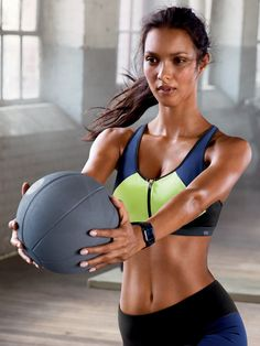 Do it for the core power. | Knockout By Victoria's Secret Front-close Strappy-back Sport Bra