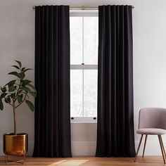 Dark Blue Curtains, Blue Curtains Living Room, Living Room Windows, Living Room Decor, Curtains For Bedroom Window, Curtain Designs For Bedroom, Bedroom Bed, Bedroom Designs, Bed Room