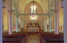 Saint Martin Roman Catholic Church, in Starkenberg, Missouri - nave.jpg