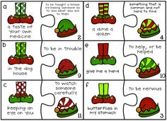 "Elf Idiom Puzzle Game  ***BE SURE TO SCROLL DOWN TO THE ""CHRISTMAS"" CATEGORY TO SNAG THIS FREE GAME!***"