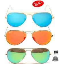 Ray Ban RB3025 Large Aviator Sunglasses Gold Frame (Mirror Lens) 58mm 86835ebbee548