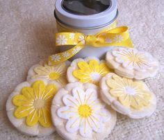 Felt Play Food - Lemony Flower Sugar Cookies