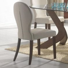 Coaster 120362 San Vicente Side Chair Ivory Vinyl Upholstery Set Of 2