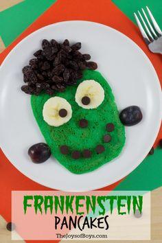 Frankenstein Pancakes- Easy Halloween Breakfast Your Entire Family Will Love