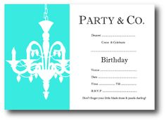 Tiffany Co Baby Invite Envelope Hosting Party Pinterest