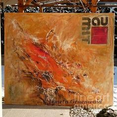 Original Abstract Painting with company Logo by Ismeta Gruenwald
