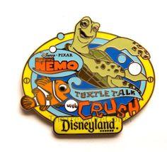 Disney Pin # 59823 ~ Finding Nemo Turtle Talk With Crush, from Disneyland Resort