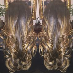Golden Brunette caramel highlights @salonink hair by Rodrigo