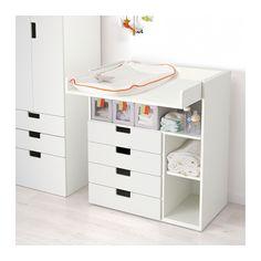 STUVA Cambiador+4cj, blanco blanco 90x79x102 cm