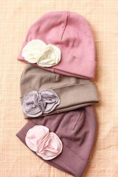 Jersey Flower Winter Beanie Hat - Baby Hat on Etsy 7ff51e36071