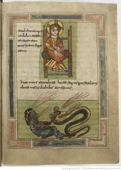 Apocalypse Commentary c.800-900AD from the Bibliotheque Municipale de Valenciennes. Poss Spanish