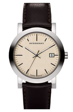 Burberry Leather Strap Watch | Nordstrom