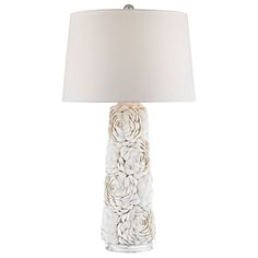 Lend a romantic feeling to your decor with the addition of the ELK Lighting Windley Table Lamp . This richly textured lamp base features a tapered design. Shell Bouquet, Natural Table Lamps, Shell Lamp, Philips Hue, Acrylic Table, Contemporary Table Lamps, Elk Lighting, Lighting Ideas, Led