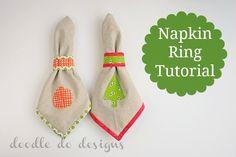 Napkin ring tutorial from @Jenn L Mathis (Ellison Lane: Modern Sewing & Design) and @Kristan Kremer  Great #holiday ideas! #sewing